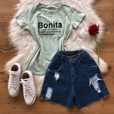 T-SHIRT FRASE BONITA
