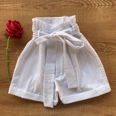 Short Cotton Trabalhado Com Amarração OFF
