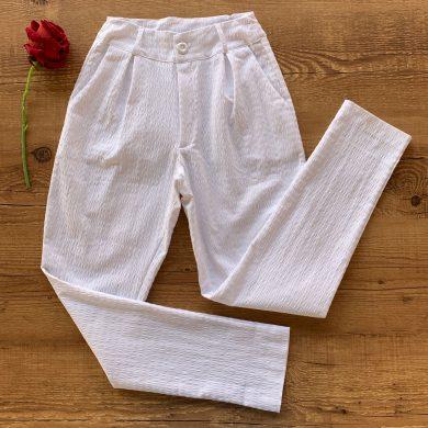 Calça Cotton Trabalhado Branco